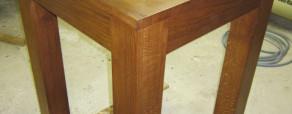 table haute en chêne