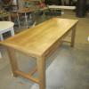 Table en chêne avec rallonges et tiroirs