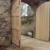 porte d'entrée de château