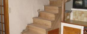 Escalier en chêne sur crémaillères