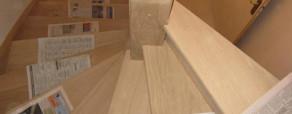 Escalier en cours de construction