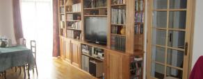 bibliothèque en merisier